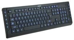 (1006209) Клавиатура A4 KD-800L черный USB slim Multimedia подсветка клавиш - фото 11318