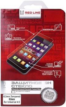 """(1006824) Защитное стекло для экрана Redline 4.5"""" для смартфонов 4,5"""" 1шт. (УТ000006688) - фото 12661"""