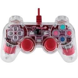 (1007259) Проводной USB геймпад Oxion OGP02RD с вибрацией и LED подсветкой, 1.5м, красный (OGP02RD) - фото 13511