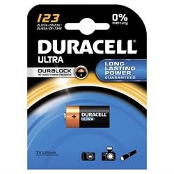 (105819) Батарейка Duracell CR123 ULTRA (1 шт. в упаковке) - фото 13981