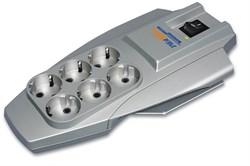 (1007497) Сетевой фильтр Pilot X-Pro 3м (6 розеток) серый (коробка) - фото 13998