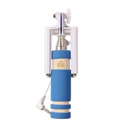 (1007610) Монопод для селфи MINI (голубой) 3.5mm Jack - фото 14184
