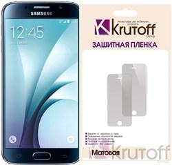 (1007657) Пленка защитная Krutoff для Samsung Galaxy S6 edge (SM-G925F), матовая - фото 14295