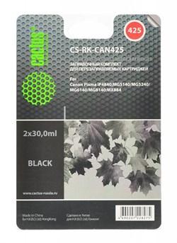 (1002389) Заправка для перезаправляемых картриджей CACTUS CS-RK-CAN425 для Canon PIXMA iP4840, черная, 2x30мл - фото 16619