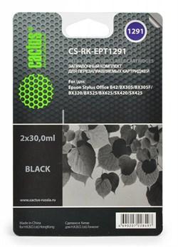 (1001547) Заправка для перезаправляемых картриджей CACTUS CS-RK-EPT1291 для Epson Stylus  B42, черная, 2x30мл - фото 16623