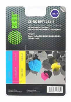 (1001546) Заправка для перезаправляемых картриджей CACTUS CS-RK-EPT1282-4 для Epson Stylus S22, цветная, 3x30 - фото 16625