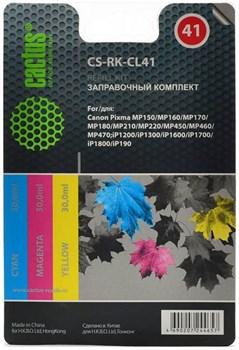 (1004537) Заправочный набор Cactus CS-RK-CL41 цветной (3x30мл) Canon MP150/MP160/MP170/MP180/MP210 - фото 16641