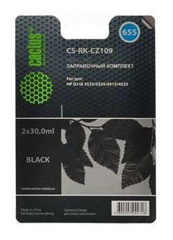 (1007000) Заправочный набор Cactus CS-RK-CZ109 черный 60мл для HP DJ IA 3525/5525/4515/4525 - фото 16656