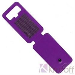 """(1008952) Чехол-флип Krutoff для смартфонов 5,5""""-6"""" с вырезом под камеру, фиолетовый - фото 16835"""