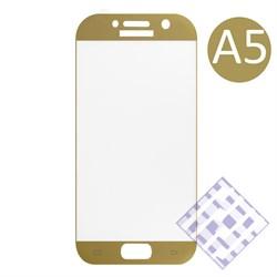 (1010063) Стекло защитное 3D Krutoff Group для Samsung Galaxy A5 2017 (SM-A520F) gold - фото 18449