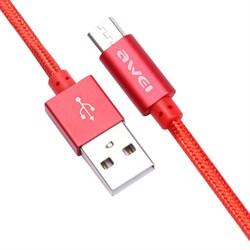 (1013226) USB кабель micro Awei CL-10 (0.3m) red - фото 21889