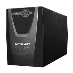 (1013319) ИБП CROWN Line Intractive CMU-500X 480VA\288W, корпус пластик, 1x12V/4.5AH, розетки 1*EURO+1*IEC С13, трансформатор AVR 162-290V, встроеный кабель питания 1.2 м, LED-индикация, защита: от перегрузки, от КЗ, от скачков напряжения - фото 22020
