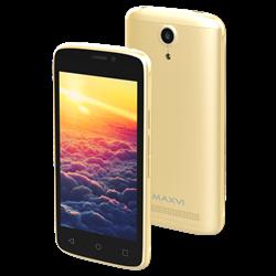 "(1013423) Смартфон Maxvi MS401 (Sunrise) gold 4"" / 800x480 / Spreadtrum SC7731 / 8 Гб / 1 Гб / 3G / 5 МП + 1,9 МП / Android 7.0 / 1350 мА⋅ч"