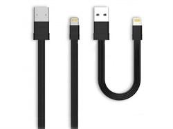 (1013451) USB кабель Lightning REMAX Tengy RC-062i (комплект из двух кабелей 1m и 0.16m) black - фото 22161