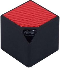 (1013833) Портативная беспроводная колонка RITMIX SP-140B black+red (3 Вт, Bluetooth, FM, USB, microSD, AUX, 300 мАч) - фото 22598