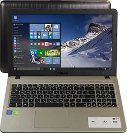 "(1013959) Ноутбук Asus VivoBook X540NV-GQ072 Pentium N4200, 4Gb, 500Gb, DVD-RW, nVidia GeForce 920MX 2Gb, 15.6"", HD (1366x768), Endless, black, WiFi, BT, Cam - фото 22790"
