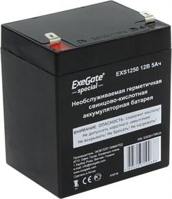 (1014116) Exegate ES255175RUS Аккумуляторная батарея  Exegate Special EXS1250, 12В 5Ач, клеммы F1 - фото 23005