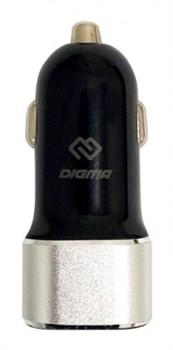 (1014299) Автомобильное зар./устр. Digma DGCC-2U-3A-BS 3A универсальное черный - фото 23354