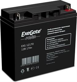 (1013291) Exegate EP160756RUS Аккумуляторная батарея  Exegate EG17-12 / EXG12170, 12В 17Ач, клеммы под болт M5 - фото 26494