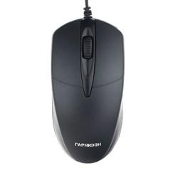 (1016435) Мышь Гарнизон GM-220, USB, чип- Х, черный,1000 DPI, 2кн.+колесо-кнопка - фото 29226