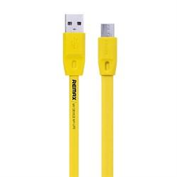 (1019088) USB кабель micro REMAX Full Speed RC-001m (2m) yellow - фото 30382