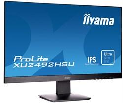 """(1022547) Монитор Iiyama 23.8"""" ProLite XU2492HSU-B1 черный IPS LED 5ms 16:9 HDMI DisplayPort M/M Mat 250cd USB - фото 32692"""