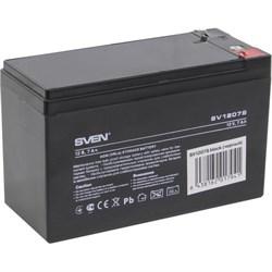 (1022789) Sven SV 1207S (12V7Ah), F1, AGM VRLA батарея аккумуляторная для слаботочных систем - фото 32912