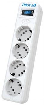 (1024291) Сетевой фильтр Pilot SG 4x8 10м (4 розетки) белый (коробка) - фото 33551