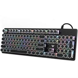 (1024305) Клавиатура игровая CROWN CMGK-903 (Количество клавиш 104, Механический тип клавиш, Клавиши в винтажном стиле, Настраиваемая RGB подсветка) - фото 33620