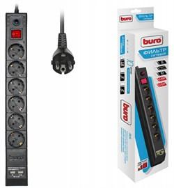 (1025809) Сетевой фильтр Buro BU-SP1.8_USB_2A-B 1.8м (6 розеток) черный (коробка) - фото 34526