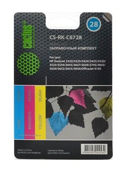 (1004532) Заправочный набор Cactus CS-RK-C8728 многоцветный 90мл для HP DeskJet 3320/3325/3420/3425/3520; Offi - фото 7959