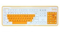 """(1110275) CBR Simple Клавиатура """"S8"""" White, 86+20 доп. кл.(смайлы на цифровом блоке), USB, S8 White - фото 8340"""