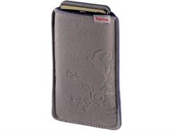 (1002191) Чехол Hama H-107398 для мобильного телефона Soft Bag 1.3 x 11.5 x 6 см плотная микрофибра серый - фото 9119