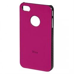 (1002179) Футляр Hama H-108546 Shiny для Apple iPhone 4/4S пластик розовый - фото 9751