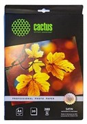 (1005176) Фотобумага Cactus CS-SMA428020 Prof A4/280г/м2/20л./белый шелковисто-матовое сатин для струйной печа