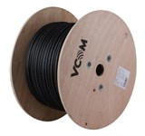 (1005296) Кабель UTP Cat.5e with steel messenger( core), solid, CCA alloy, 305m/wooden reel, PE+PVC compound jacket, outdoor (уличный)