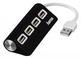(1005970) Разветвитель USB 2.0 Hama TopSide(12177) портов:4 черный