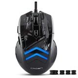 (1006159) Мышь CROWN Gaming CMXG-703 COLT Black (3500 dpi, 7 программируемых кнопок, настраиваемый цвет подстветки, регулируемый вес)