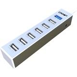 (1006164) Хаб USB 3.0 CROWN CMU3-08 Aluminium (Порты usb 3.0 * 1, usb 2.0 * 6, разъём для доп. питания)
