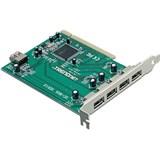 (1006171) Контроллер Trendnet TU2-H5PI 5-ти портовый хост-адаптер PCI-USB 2.0