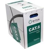 (114135)  Кабель витая пара UTP 5bites US6575-100A, бухта  100м, Cat.6, 4 пары, одножильный, 23awg, 4X2X1/0.50, CCA/PVC/BLUE