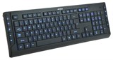 (1006209) Клавиатура A4 KD-800L черный USB slim Multimedia подсветка клавиш