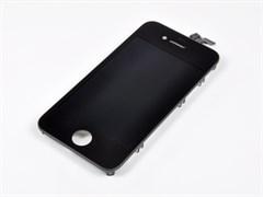 """(1006421) Матрица и тачскрин (модуль) Apple iPhone 4S, дисплей 3.7"""", AAA (1-ая категория). Черный цвет."""