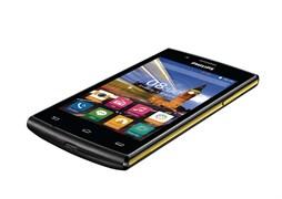 "(1006427) Смартфон Philips S307 Xenium SC7731, 512mb, 4gb, Mali-400 MP2, 4"", TFT (800x480), Android 4.4, Black-yellow, 3G, WiFi, GPS, BT, Cam, 1630mAh (8712581736125)"