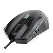 (1006450) Мышь CROWN Gaming CMXG-1100 BLAZE Black (2400 dpi, красная подсветка, 6 кнопок)