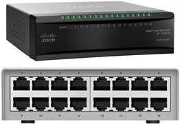 (108442) Сетевой коммутатор Cisco SB SF100D-16-EU, 16-Port 10/100 Desktop Switch