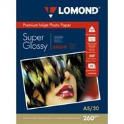 (1006718) Фотобумага Lomond 1103104 A5/260г/м2/20л./белый высокоглянцевое для струйной печати