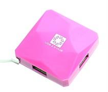 (1006761) Концентратор 5bites HB24-202PU 4*USB2.0 / USB 60CM / PURPLE