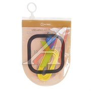 (1010567) OXION DCC019 дата-кабель с возможностью зарядки для iPhone 5/5S/5C/6/6S USB 2,0 (M) - Lightning 8 pin (M), 1м,подсветка штекера желтый плоский