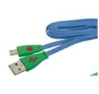 (1006685) OXION DCC023 дата-кабель с возможностью зарядки для Samsung, USB 2,0 (M) - Micro-USB (M), 1м, голубой подсветка (OX-DCC023BL)